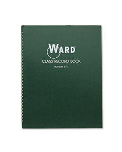 HUB67L CLASS RECORD BOOK, 38 STUDENTS, 6-7 WEEK GRADING, 11 X 8-1/2, GREEN