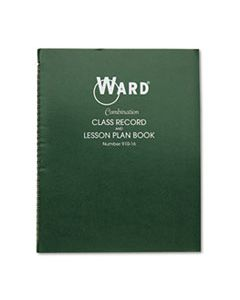 HUB91016 COMBINATION RECORD & PLAN BOOK, 9-10 WEEKS, 6 PERIODS/DAY, 11 X 8-1/2
