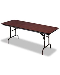 ICE55224 PREMIUM WOOD LAMINATE FOLDING TABLE, RECTANGULAR, 72W X 30D X 29H, MAHOGANY