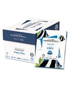 HAM105007 COPY PLUS PRINT PAPER, 92 BRIGHT, 20LB, 8.5 X 11, WHITE, 500 SHEETS/REAM, 10 REAMS/CARTON