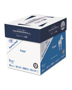 HAM163120 TIDAL PRINT PAPER EXPRESS PACK, 92 BRIGHT, 20LB, 8.5 X 11, WHITE, 500 SHEETS/REAM, 5 REAMS/CARTON
