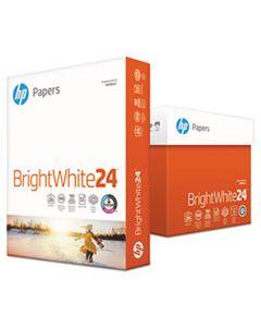 HEW203000 BRIGHTWHITE24 PAPER, 100 BRIGHT, 24LB, 8.5 X 11, BRIGHT WHITE, 500/REAM