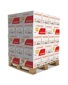 UNV21200PLT COPY PAPER, 92 BRIGHT, 20LB, 8.5 X 11, WHITE, 500 SHEETS/REAM, 10 REAMS/CARTON, 40 CARTONS/PALLET