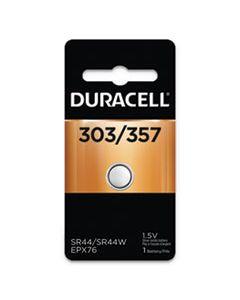 DURD303357PK BUTTON CELL BATTERY, 303/357, 1.5V, 6/BOX