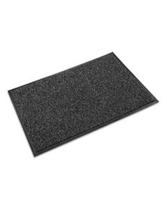 CWNCS0035GY CROSS-OVER INDOOR/OUTDOOR WIPER/SCRAPER MAT, OLEFIN/POLY, 36 X 60, GRAY