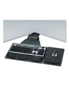 FEL8035901 PROFESSIONAL CORNER EXECUTIVE KEYBOARD TRAY, 19W X 14.75D, BLACK