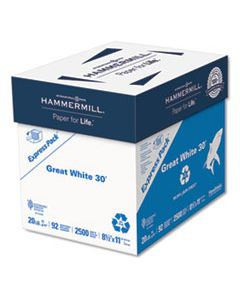 HAM67780 GREAT WHITE 30 RECYCLED PRINT PAPER, 92 BRIGHT, 20 LB, 8.5 X 11, WHITE, 2,500 SHEETS/CARTON
