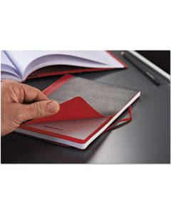 JDK400110479 FLEXIBLE CASEBOUND NOTEBOOKS, 1 SUBJECT, WIDE/LEGAL RULE, BLACK/RED COVER, 9.88 X 7, 72 SHEETS