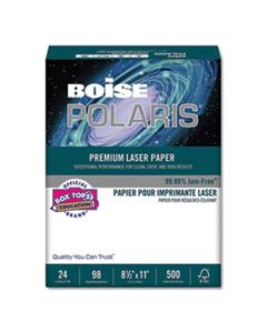 CASBPL0111 POLARIS PREMIUM LASER PAPER, 98 BRIGHT, 24LB, 8.5 X 11, WHITE, 500/REAM