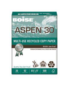CAS054901 ASPEN 30 MULTI-USE RECYCLED PAPER, 92 BRIGHT, 20LB, 8.5 X 11, WHITE, 500 SHEETS/REAM, 10 REAMS/CARTON