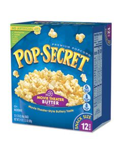 DFD28783 MICROWAVE POPCORN, MOVIE THEATRE BUTTER, 1.75 OZ BAGS, 12/BOX
