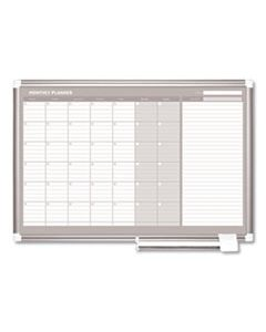 BVCGA0397830 MONTHLY PLANNER, 36X24, SILVER FRAME