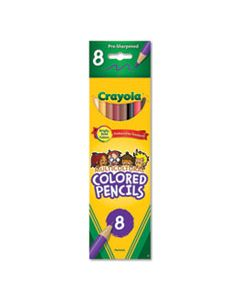 CYO684208 MULTICULTURAL EIGHT-COLOR PENCIL PACK, 3.3 MM, 2B (#1), ASSORTED LEAD/BARREL COLORS, 8/PACK