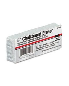 LEO74555 5-INCH CHALKBOARD ERASER, WOOL FELT, 5W X 2D X 1H