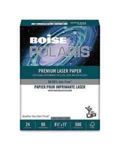 CASBPL0111P POLARIS PREMIUM LASER PAPER, 97 BRIGHT, 3-HOLE, 24LB, 8.5 X 11, WHITE, 500/REAM