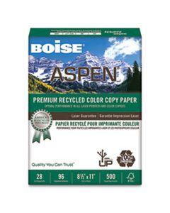 CASACC2811 ASPEN PREMIUM COLOR COPY PAPER, 96 BRIGHT, 28LB, 8.5 X 11, WHITE, 500/REAM