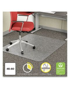 DEFCM11442FCOM ECONOMAT OCCASIONAL USE CHAIR MAT, LOW PILE CARPET, ROLL, 46 X 60, RECTANGLE, CLEAR