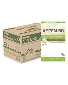 CAS055017 ASPEN 50 MULTI-USE RECYCLED PAPER, 96 BRIGHT, 20LB, 11 X 17, WHITE, 500 SHEETS/REAM, 5 REAMS/CARTON