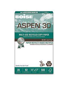 CAS054907 ASPEN 30 MULTI-USE RECYCLED PAPER, 92 BRIGHT, 20LB, 11 X 17, WHITE, 500 SHEETS/REAM, 5 REAMS/CARTON