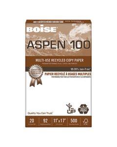 CAS054925 ASPEN MULTI-USE RECYCLED PAPER, 92 BRIGHT, 20LB, 11 X 17, WHITE, 500 SHEETS/REAM, 5 REAMS/CARTON