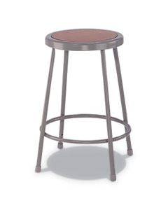 "ALEIS6630G INDUSTRIAL METAL SHOP STOOL, 30"" SEAT HEIGHT, SUPPORTS UP TO 300 LBS., BROWN SEAT/GRAY BACK, GRAY BASE"