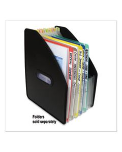 """CLI58810 VERTICAL EXPANDING FILE, 10"""" EXPANSION, 13 SECTIONS, 1/13-CUT TAB, LETTER SIZE, BLACK"""