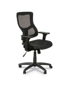 ALEELT4218S ALERA ELUSION II SERIES SUSPENSION MESH MID-BACK SYNCHRO WITH SEAT SLIDE CHAIR, UP TO 275 LBS., BLACK SEAT/BACK, BLACK BASE
