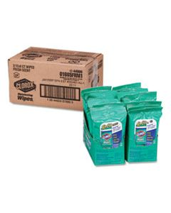 CLO01665 DISINFECTING WIPES ON THE GO, FRESH SCENT, 7 X 8, 9/PACK, 24 PACKS/CARTON