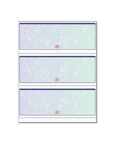 PRB04539RM PREMIER PRISMATIC CHECK, 13 FEATURES, 8.5 X 11, BLUE/GREEN PRISMATIC, 500/REAM