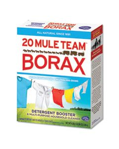 DIA00201 20 MULE TEAM BORAX LAUNDRY BOOSTER, POWDER, 4 LB BOX