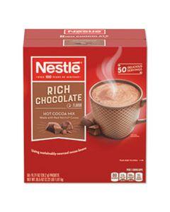 NES25485CT HOT COCOA MIX, RICH CHOCOLATE, 0.71 OZ PACKETS, 50/BOX, 6 BOX/CARTON