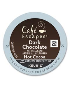 GMT6802 CAFE ESCAPES DARK CHOCOLATE HOT COCOA K-CUPS, 24/BOX