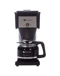 BUNBXB 10-CUP VELOCITY BREW BX COFFEE BREWER, BLACK, STAINLESS STEEL