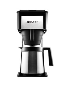 BUNBT 10-CUP VELOCITY BREW BT THERMAL COFFEE BREWER, BLACK, STAINLESS STEEL