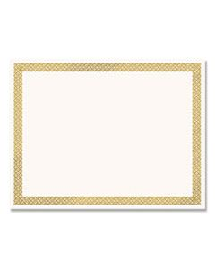 COS936060 FOIL BORDER CERTIFICATES, 8.5 X 11, IVORY/GOLD, BRAIDED, 12/PACK