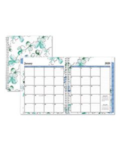 BLS100654 LINDLEY WEEKLY/MONTHLY WIREBOUND PLANNER, 11 X 8.5, WHITE/BLUE, 2020