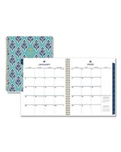 BLS110569 SULLANA WEEKLY/MONTHLY PLANNER, 11 X 8 1/2, TEAL COVER, 2020