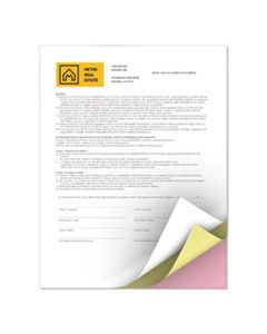 XER3R12425 REVOLUTION CARBONLESS 3-PART PAPER, 8.5 X 11, WHITE/CANARY/PINK, 5, 000/CARTON