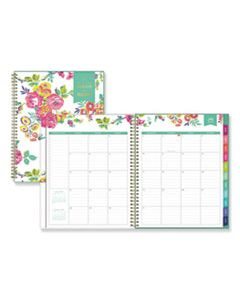 BLS107925 DAY DESIGNER ACADEMIC YEAR CYO WEEKLY/MONTHLY PLANNER, 11 X 8 1/2, WHITE/FLORAL, 2019-2020