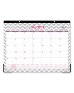 BLS100295 DABNEY LEE OLLIE ACADEMIC YEAR DESK PAD, 22 X 17, GRAY CHEVRON, 2019-2020