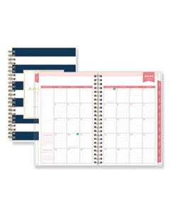 BLS103623 DAY DESIGNER DAILY/MONTHLY PLANNER, 8 X 5, NAVY/WHITE, 2020