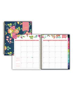 BLS103617 DAY DESIGNER CYO WEEKLY/MONTHLY PLANNER, 11 X 8 1/2, NAVY/FLORAL, 2020