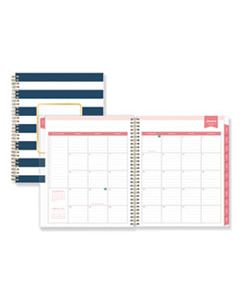 BLS103622 DAY DESIGNER DAILY/MONTHLY PLANNER, 10 X 8, NAVY/WHITE, 2020