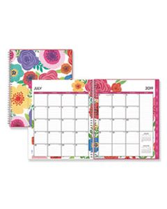 BLS100149 MAHALO ACADEMIC YEAR CYO WEEKLY/MONTHLY PLANNER, 11 X 8 1/2, TROPICAL FLORAL, 2019-2020