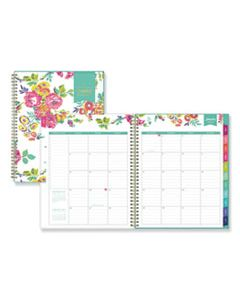 BLS103618 DAY DESIGNER CYO WEEKLY/MONTHLY PLANNER, 11 X 8 1/2, WHITE/FLORAL, 2020