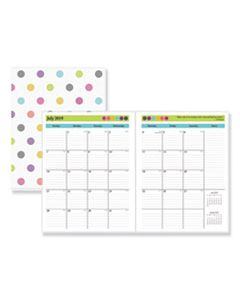BLS100336 TEACHER DOTS ACADEMIC YEAR MONTHLY PLANNER, 11 X 8 1/2, ASSORTED, 2019-2020