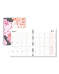 BLS110394 JOSELYN WEEKLY/MONTHLY WIREBOUND PLANNER, 11 X 8 1/2, LIGHT PINK/PEACH/BLACK, 2020
