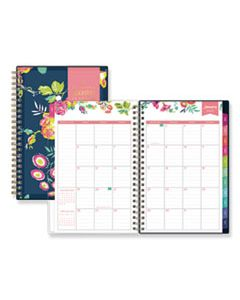 BLS103620 DAY DESIGNER CYO WEEKLY/MONTHLY PLANNER, 8 X 5, NAVY/FLORAL, 2020
