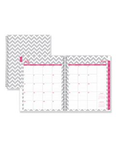 BLS100287 DABNEY LEE OLLIE ACADEMIC WEEKLY/MONTHLY PLANNER, GRAY CHEVRON, 8.5X11,2019-2020