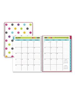 BLS100330 TEACHER DOTS ACADEMIC YEAR CYO WEEKLY/MONTHLY PLANNER, 11 X 8 1/2, ASSORTED, 2019-2020